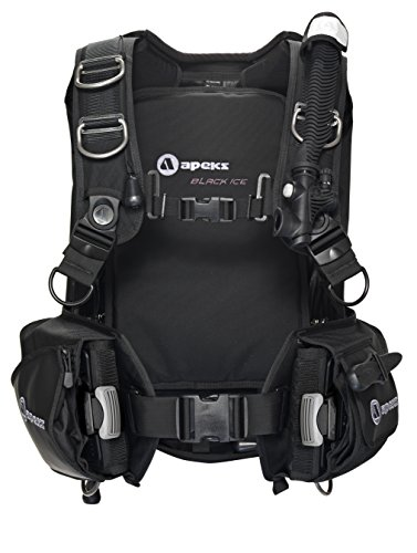 Apeks by Aqua Lung Black Ice Back Infalate BCD, XL-XXL