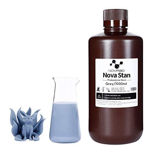 NOVA3D LCD UV 405nm Rapid 3D Resin for LCD DLP 3D printer Photopolymer Resin Gray, 1000g