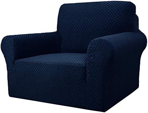 Mazu Homee Funda de silla jacquard para sala de estar, súper elástica antideslizante con reposabrazos, funda de sofá elástica de una sola pieza para mascotas, funda para silla (sofá, café oscuro)