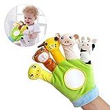 Mallalah - Marioneta para bebé con diseño de dedo, para muñeca, 1 guante, juguete educativo interactivo, peluche aterciopelado para niños y niñas