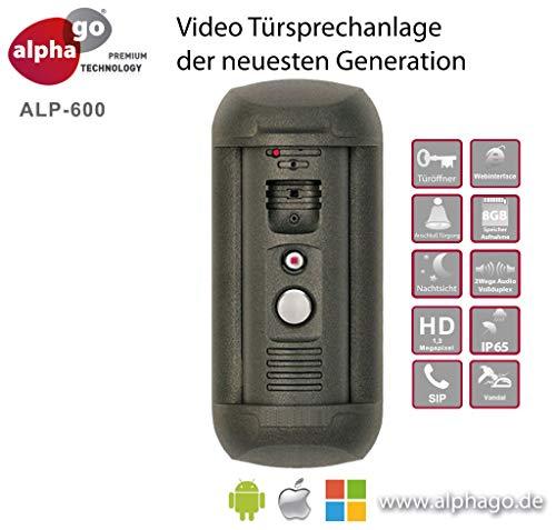 IP Video Türsprechanlage ALP-600 - ohne Cloud-Zwang - Gegensprechanlage - Tür Überwachung - Fritz!Fon C4/C5 kompatibel-Steuerung über PC/Smartphone/Tablet-FTP Anbindung