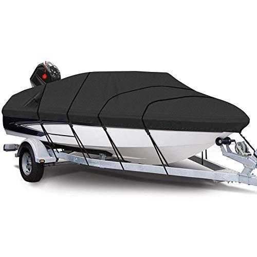 Mauel Schneeschutz Bootsabdeck Plane, Motorboot Persenning 210D Oxford, wasserdichte Bootsplane, UV-geschützt Bootsabdeckung Einfach zu zerlegen und zu installieren,20 22 ft