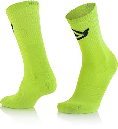 Calcetín de algodón amarillo fluorescente S/M