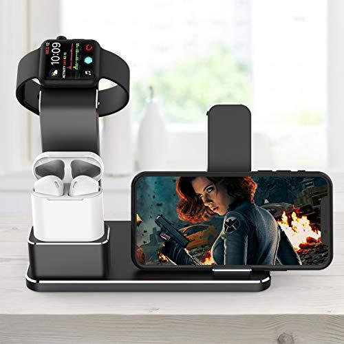 『Apple Watch スタンド, YoFew Apple Watch Series 3 Series 2アルミニウム4イン1Apple Watch 充電 スタンド ホルダー Airpods 充電スタンド 充電 クレードル ドック Airpods アップルウォッチ シリーズ 2 / シリーズ/iPhone 7/ 7 Plus / 6/ 6 Plus/ 5s / iPad (銀)』の5枚目の画像