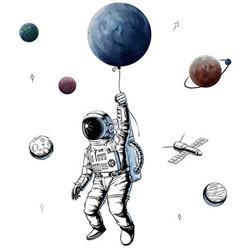 AILANDA Wandtattoo Kinderzimmer Junge Wanddeko Kinderzimmer Sonnensystem Wandtattoo Weltraum Wandtattoo Planeten Deko für Kinderzimmer Junge Schlafzimmer Wanddeko
