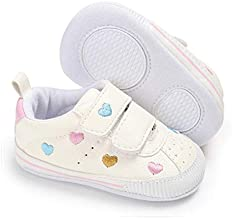 E-FAK Baby Boys Girls Shoes Non-Slip Rubber Sole Infant Toddler Sneakers Crib First Walker Shoes(0-18 Months) (01 Multi-Color, 12_Months)