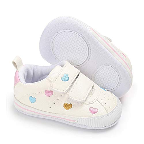 E-FAK Baby Boys Girls Shoes Non-Slip Rubber Sole Infant Toddler Sneakers Crib First Walker Shoes(0-18 Months) (C/Multi-Color, 12_Months)
