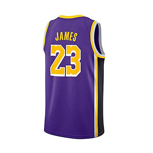 NSEHIK Los Angeles Lakers Trikot 23# Lebron James Herren Basketball T-Shirt(X-Large, Violett)