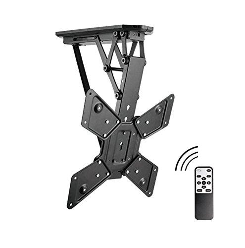 Allcam Electric Motorised TV Bracket Ceiling Mount, 6° Level Adjustment & Height Adjustment to Suit Most LCD/LED/Plasma TVS 32
