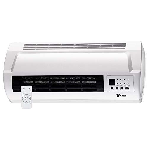Calefactor eléctrico Mural, 2 ajustes de Calor, 1000-2000W.Temporizador y Control Remoto....