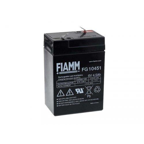 FIAMM BATTERIA RICARICABILE Al PIOMBO FG10451 6V 4.5AH