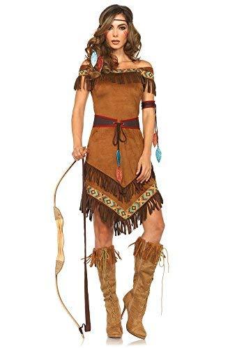 Leg Avenue Damen-Kostüm Klassische Indianerin - Squaw Indianer Halbblut sexy, Größe:M/L