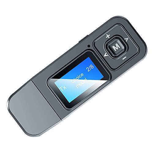 Queen.Y 2-In-1 Bt5. 0 Sender Empfänger Wireless Audio Adapter mit Mikrofon LCD-Display für PC TV Kopfhörer Auto Lautsprecher Auto Home Stereoanlage