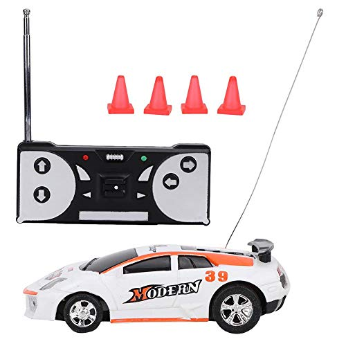 VGEBY1 Remote Control Car, Simulated Electric RC Car Mini Remote Control Vehicle Sport Racing Toy Kids Gift(Orange-White) -  VGEBYt6badzexwp-03