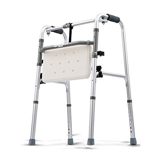 CKR Ayuda para Caminar Walker Obeso Plegable Pesado El Anciano Súper Adulto Ancha Andador Rueda Delantera Ligera Móvil Ayudar A Los Obstáculos