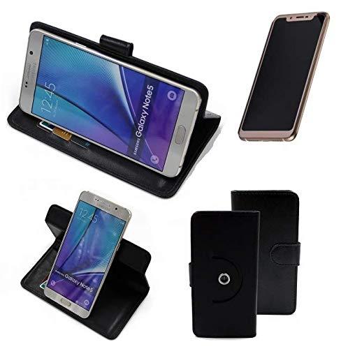 K-S-Trade® Case Schutz Hülle Für -Doogee V- Handyhülle Flipcase Smartphone Cover Handy Schutz Tasche Bookstyle Walletcase Schwarz (1x)