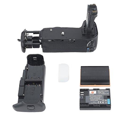 DSTE® Batterie Griff für Canon EOS 70D DSLR Digital Kamera als BG-E14 mit (2 packung) LP-E6