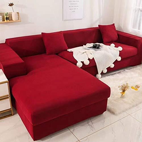 Sofabezug/Couchbezug L Form/Sofaüberzug/Sofahusse/Sofabezug Ecksofa/Sofaüberwürfe/Couchbezug/Sesselbezug/Sofa Überwürfe/Stretch Hussen L Form 1/2/3/4 Sitzer,Color18-1~seat(90~140cm)