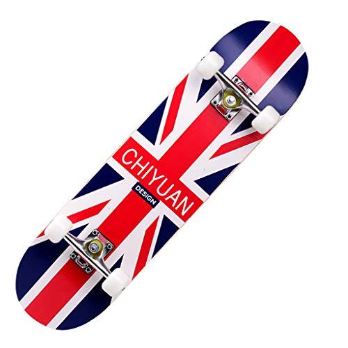 Kinder Skateboard LCLrute Komplette Cruiser Skateboard,Double Kick Deck Concave Kompletteboard Longboard Skate Board für Anfänger Jungen Mädchen