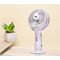GADGETRONICS Powerful Rechargeable Table Fan with LED Light, table fans for home,table fans small,table fans for kitchen,table fans for home rechargeable,table fans high speed(Multicolor),Angelic Enterprise,DP7606