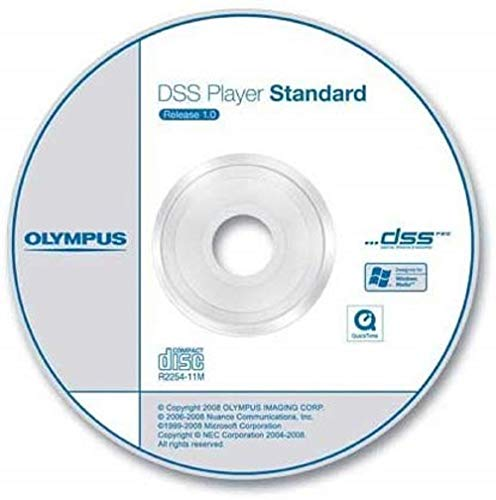 Olympus DSS Player Software Diktiermodul CD-ROM inkl. Seriennummer (Transkription)