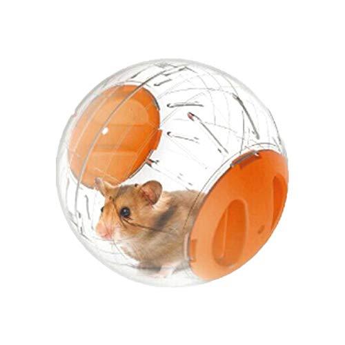 KunLS Hamster Spielzeug Hamsterrad Hamster Zubehör Meerschweinchen Zubehoer Nager Zubehör Hamster Übung Ball Zwerg Hamster Rad Laufrad Hamster Laufrad Für Hamster orange