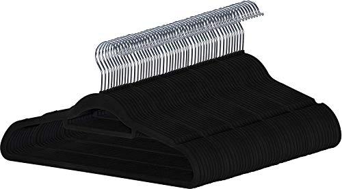 Guilty Gadgets - Confezione da 50 grucce sottili antiscivolo in velluto floccato, per vestiti, pantaloni, cravatte, sciarpe, da appendere