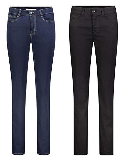 MAC Angela 2er Pack Damen Jeans in Verschiedene Farbvarianten Damen Hose, Größe:W40/L32, Farbe:D999+D801