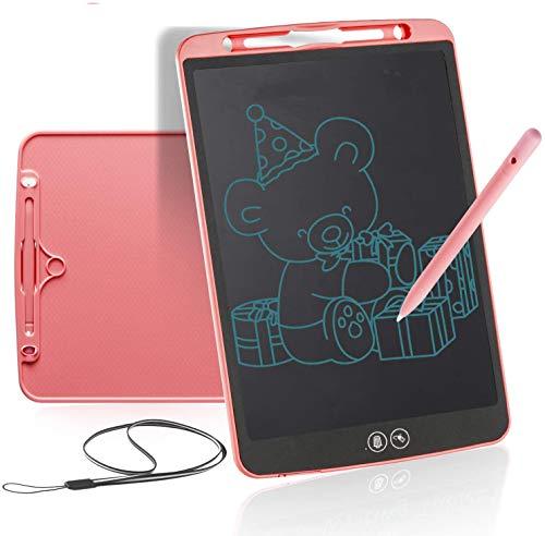 Tableta de Escritura LCD 8.5Pulgadas con Borrado Parcial, Tableta gráfica Tablet para niños, Portátil Tablero de Dibujo Doodle Manualidades para Niños y Adultos, Clase, Casa, Oficina(Rosa)