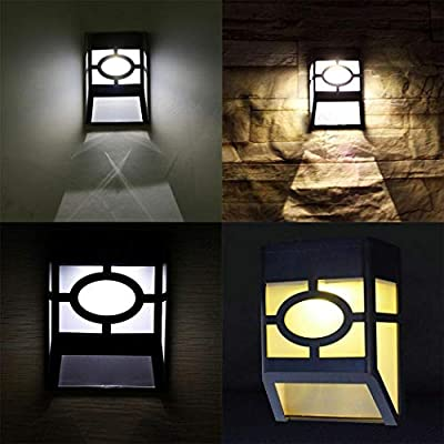 Ruior Solar Powered Wall Mount LED Light Outdoor Solar Wall Light Wall Lamps & Sconces
