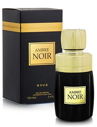 Agua de perfume ámbar negro, 100 ml, unisex es la primera expresión olfativa, una fragancia oriental y attar de larga duración con un toque árabe de acento de ámbar y almizcle y madera