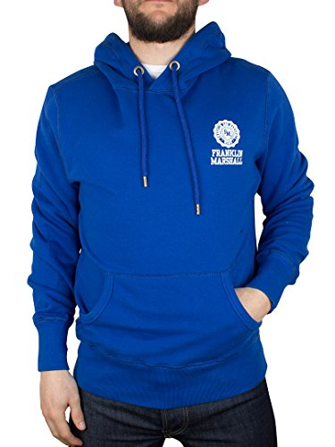 Franklin & Marshall Uomo Small Logo Hoodie, Blu, Small