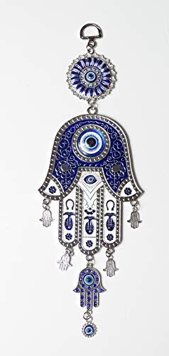 kenta artesanias Mano de Fatima Grande 28 cm x 9 con Varios manitas de Adorno Calidad y diseño
