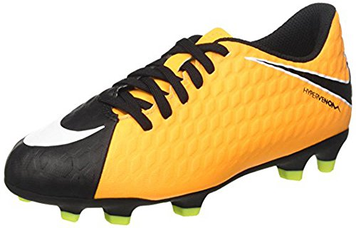 Nike Jr Hypervenom Phade III Fg, Scarpe da Calcio Unisex-Bambini, Arancione (Laser Orange/Black/Volt), 32 EU