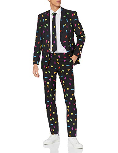 UK 36 OppoSuits Mens German Flag Themed Suit For Men Pants and Tie Comes With Jacket