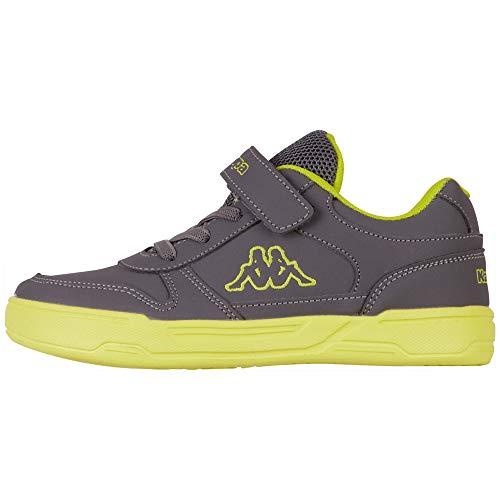 Kappa Unisex Kinder Dalton Ice BC Sneaker, 1633 Grey/Lime,30 EU