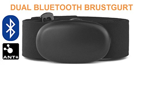 Bluetooth et ant + Sangle de poitrine pour application Runtastic, Wahoo, strava, pour iPhone 4S/5/5 C/5S/6/6S/6 plus/se/7/7S/7 Plus/8/X, cardiofréquencemètre, HRM