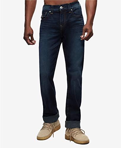 TRUE RELIGON(トゥルーレリジョン) ボトムス サイズ:32 デニムパンツ Men's Ricky Straight Fit Jeans Last Call メンズ [並行輸入品]