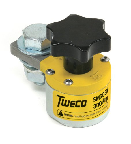 Tweco 9255-1061 Switchable Magnetic Ground Welding Clamp, 300-Amp