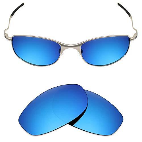 Mryok Ersatzgläser für Oakley Tightrope, Blau (Polarisiert – Eisblau), Einheitsgröße