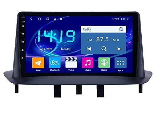 ZBHWYD Adecuado para Renault Megane 3 GPS Navegación de Pantalla Grande del automóvil Inteligente, Android 10 8 Core 4 + 64g Coche Radio Multimedia Player GPS Navegación (Size : 6+128G)