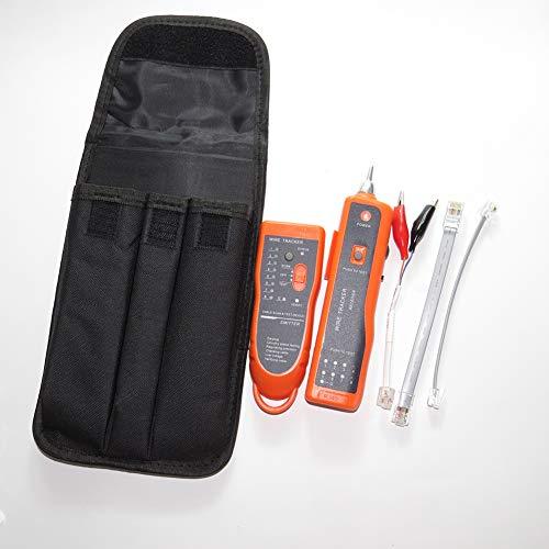 Wire Tracker, Netzwerkkabeltester RJ11 RJ45 UTP STP-Leitungssucher Wire Tracker, Kabeltester,Orange