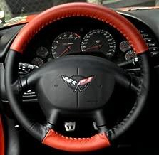 Corvette Steering Wheel Cover Euro-Style Two-Tone : 1997-2004 C5 & Z06 (Red/Black)