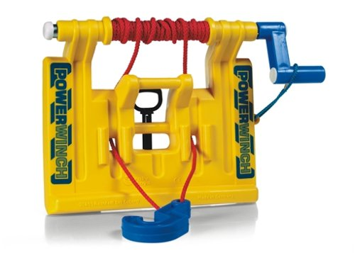 Rolly Toys S2640900 Power Winch Seilwinde (für Trettraktoren, für Kinder ab 3 Jahren, für Front und Heckkupplung) 409006