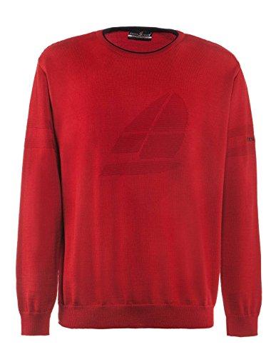 GREEN COAST Camiseta de cuello redondo para hombre, tallas fuertes. rojo 58