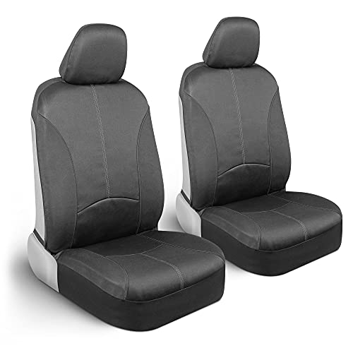 Motor Trend SpillGuard Waterproof Car Seat Covers for Front Seats, Gray...