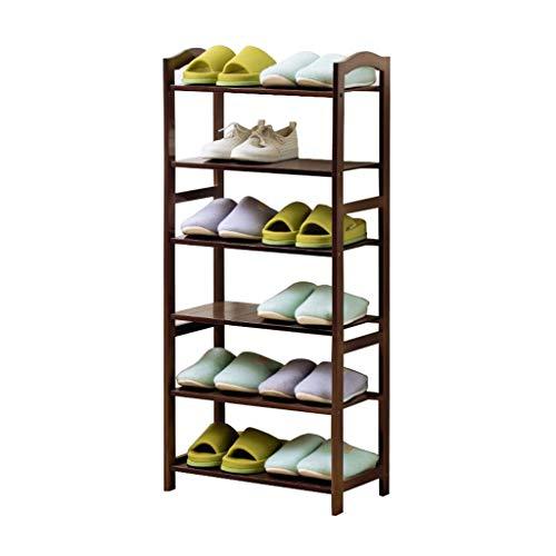 ZZYE Zapatero Rack de Zapatos 6 Niveles de Madera Maciza Torre de Almacenamiento Organizador Estantes apilables Muebles Entrada de Pasillo Bambú Impermeable (50 cm, 70 cm) Perchero Zapatero