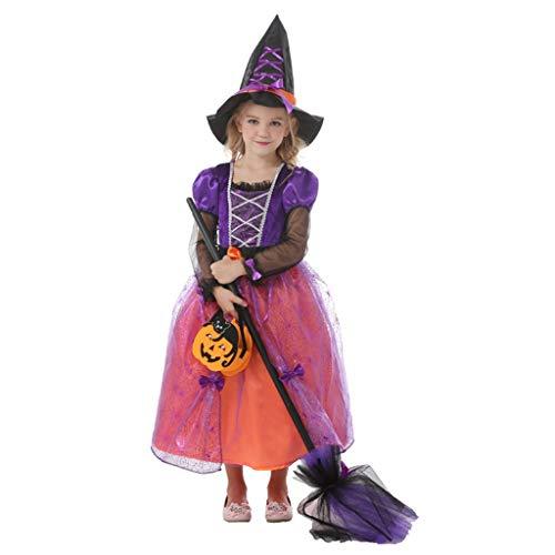 Halloween kostuums Meisjes Heks Kostuum Halloween Kinderkleding Halloween Kinderjurk Halloween Kinderkostuum Cosplay Kostuum Meisje Magician Heks Prinses Jurk meisjes h
