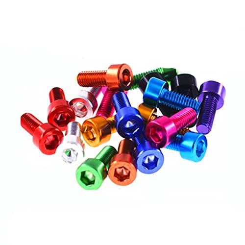 10 Uds tornillo de cabeza de tapa de aluminio M3 M4 M5 M6 tornillo de máquina hexagonal de aluminio colorido-M4x16, verde