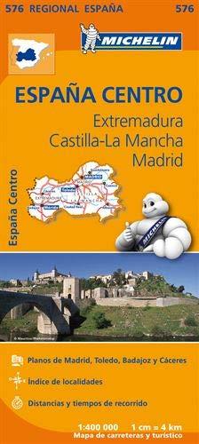 Mapa Regional Extremadura, Castilla la Mancha, Madrid (Carte regionali)